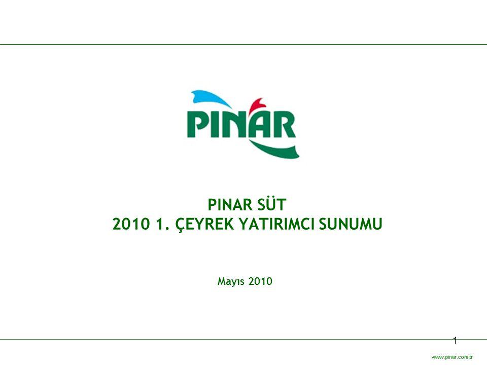 1 PINAR SÜT 2010 1. ÇEYREK YATIRIMCI SUNUMU Mayıs 2010