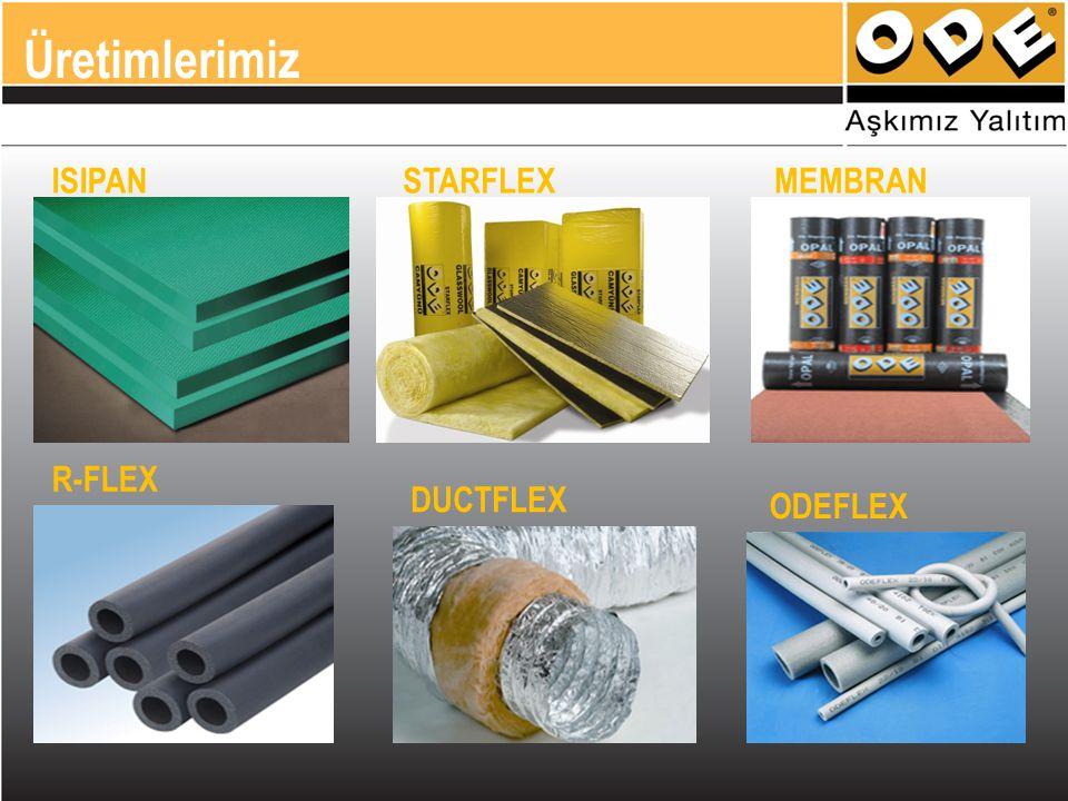 Üretimlerimiz ISIPAN STARFLEX MEMBRAN R-FLEX DUCTFLEX ODEFLEX