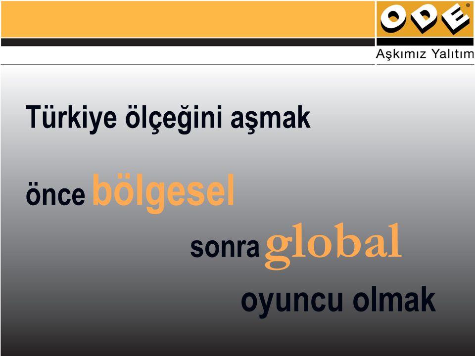 Türkiye ölçeğini aşmak önce bölgesel sonra global oyuncu olmak