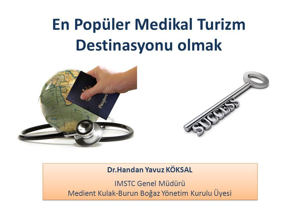 En Popüler Medikal Turizm Destinasyonu olmak Dr.Handan Yavuz KÖKSAL IMSTC Genel Müdürü Medient Kulak-Burun Boğaz Yönetim Kurulu Üyesi Dr.Handan Yavuz