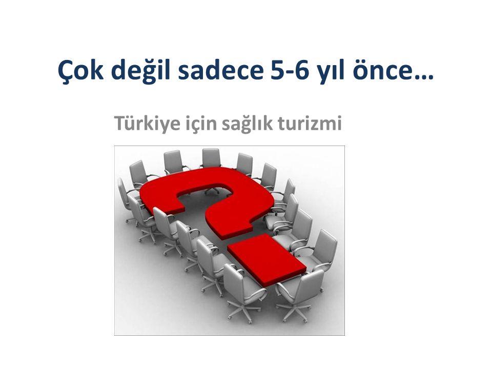 Çok değil sadece 5-6 yıl önce… Türkiye için sağlık turizmi