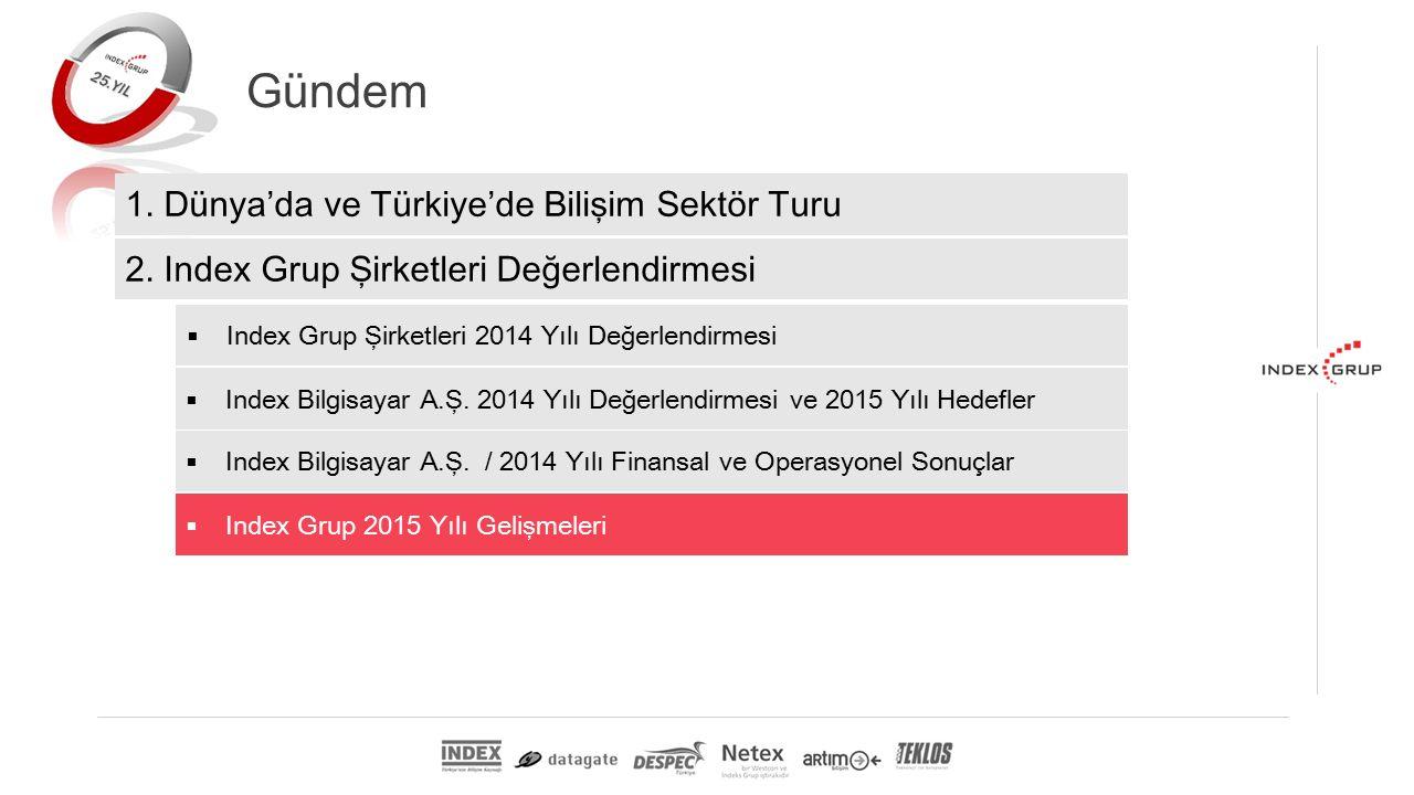 Gündem 1. Dünya'da ve Türkiye'de Bilişim Sektör Turu 2.