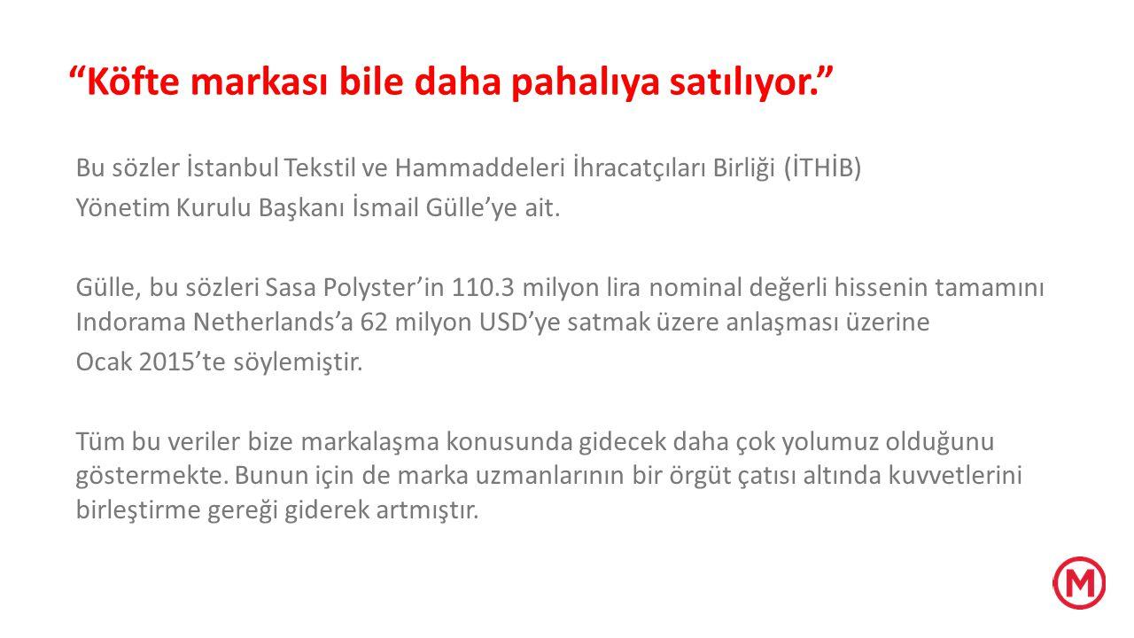 """""""Köfte markası bile daha pahalıya satılıyor."""" Bu sözler İstanbul Tekstil ve Hammaddeleri İhracatçıları Birliği (İTHİB) Yönetim Kurulu Başkanı İsmail G"""