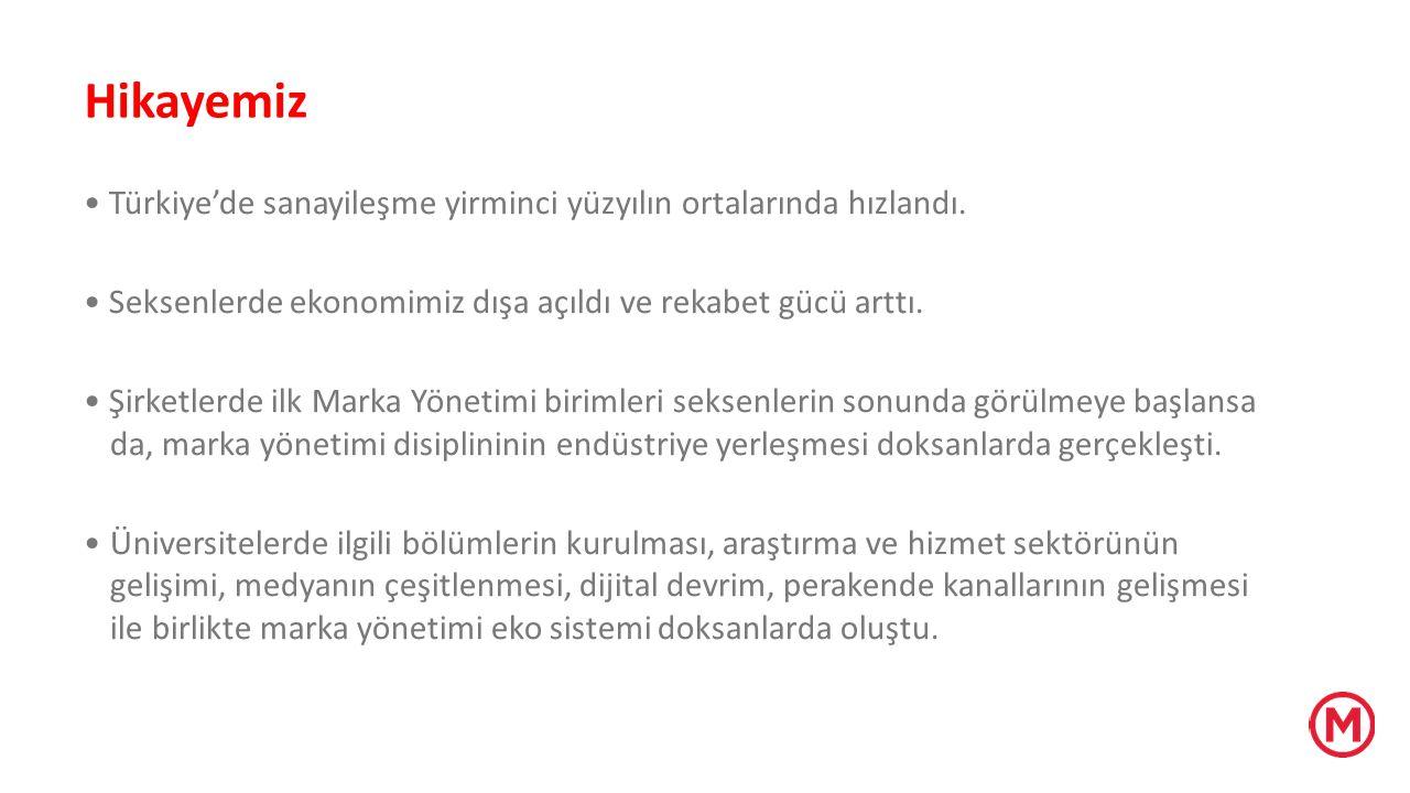 Hikayemiz Türkiye'de sanayileşme yirminci yüzyılın ortalarında hızlandı. Seksenlerde ekonomimiz dışa açıldı ve rekabet gücü arttı. Şirketlerde ilk Mar
