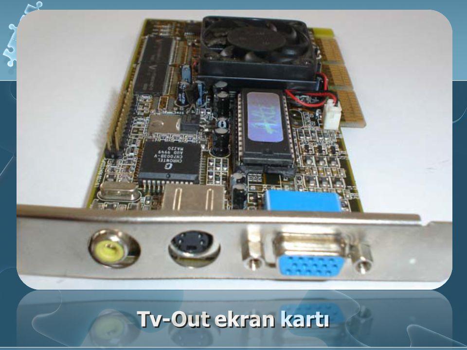 Ekran Kartının Çalışması Bilgisayarın işlemcisi tarafından işlenen veriler anakart ile ekran kartının görüntü belleğine aktarılır.