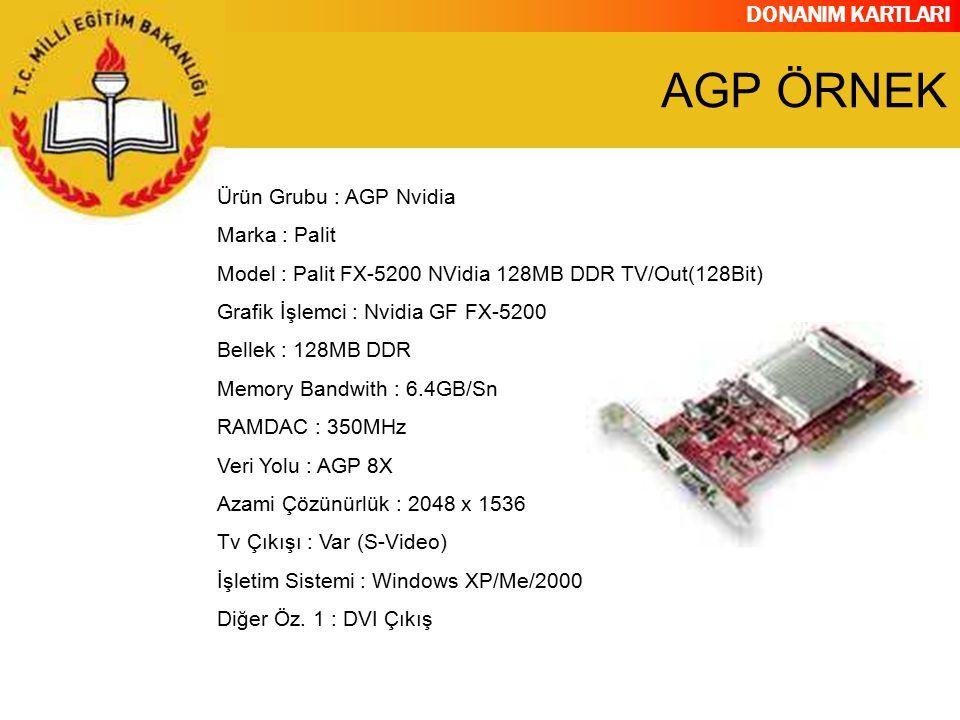 DONANIM KARTLARI Ürün Grubu : AGP Nvidia Marka : Palit Model : Palit FX-5200 NVidia 128MB DDR TV/Out(128Bit) Grafik İşlemci : Nvidia GF FX-5200 Bellek