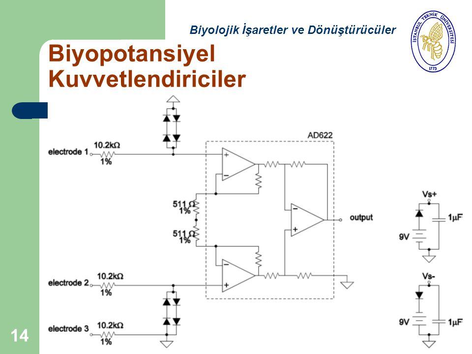 14 Biyopotansiyel Kuvvetlendiriciler Biyolojik İşaretler ve Dönüştürücüler