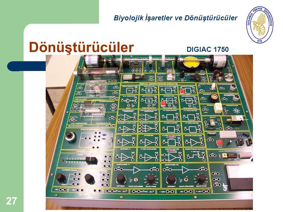 27 Dönüştürücüler Biyolojik İşaretler ve Dönüştürücüler DIGIAC 1750