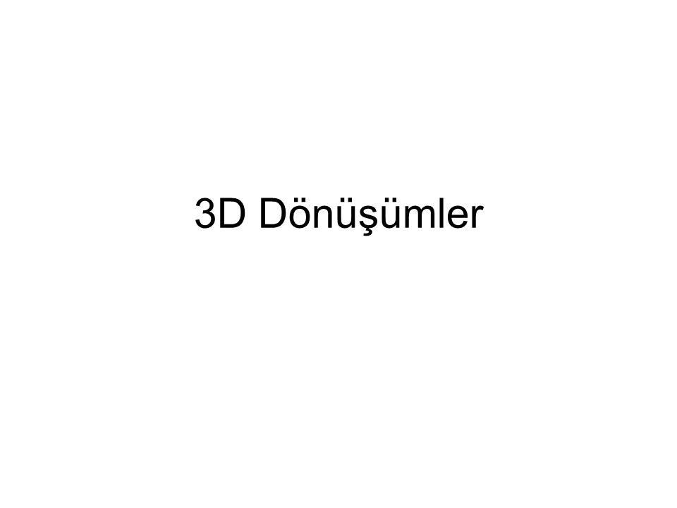 3D Dönüşümler