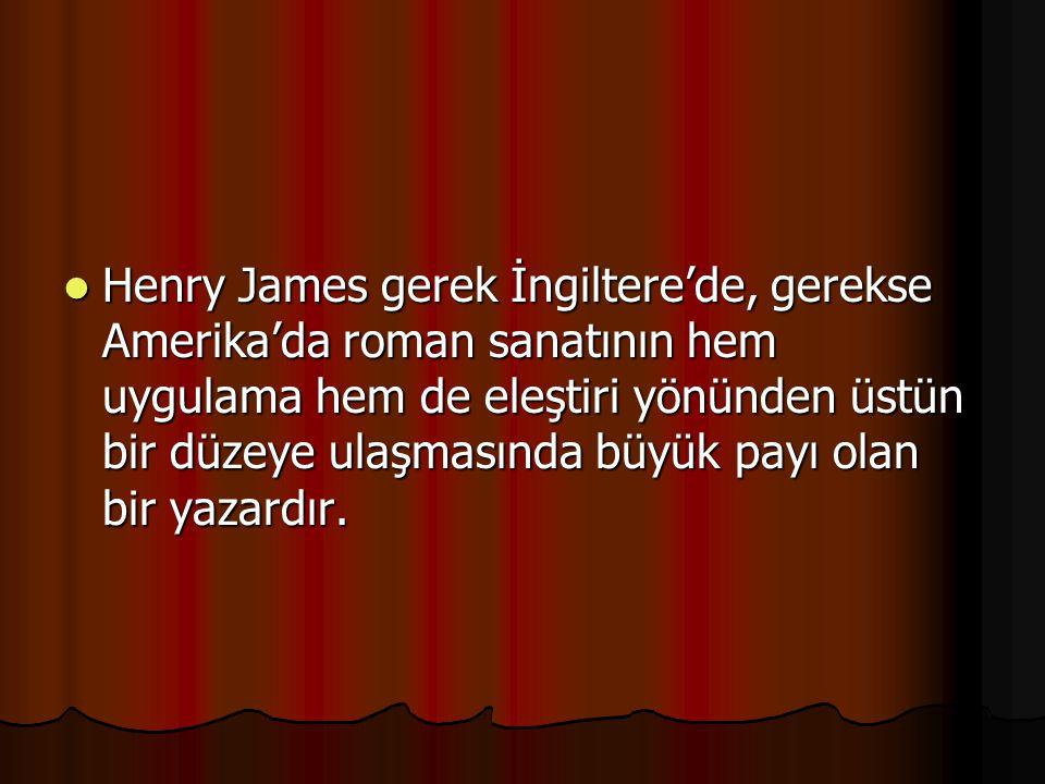 Henry James gerek İngiltere'de, gerekse Amerika'da roman sanatının hem uygulama hem de eleştiri yönünden üstün bir düzeye ulaşmasında büyük payı olan