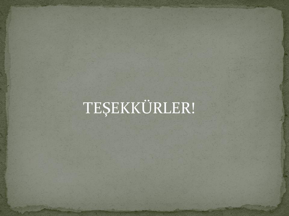 TEŞEKKÜRLER!