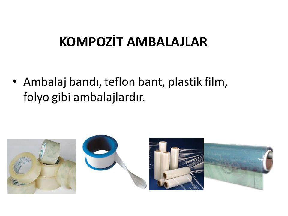 KOMPOZİT AMBALAJLAR Ambalaj bandı, teflon bant, plastik film, folyo gibi ambalajlardır.