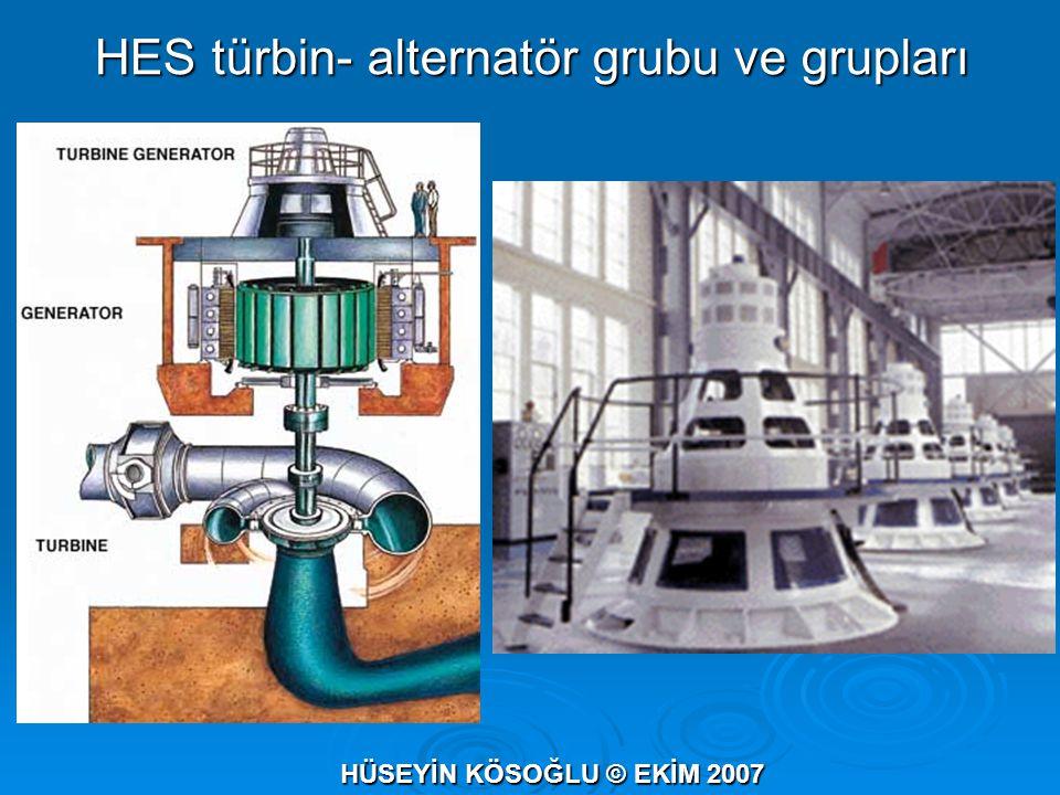 HES türbin- alternatör grubu ve grupları HÜSEYİN KÖSOĞLU © EKİM 2007