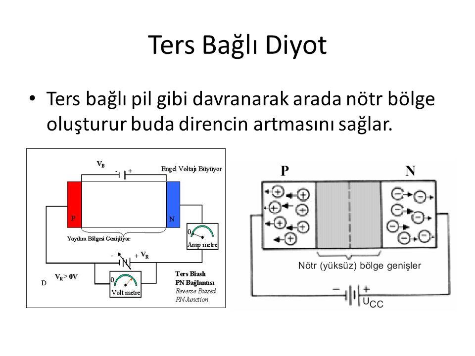 1.Kristal Diyot: AC gerilimin doğrultulmasında ve elektronik devrelerin kısa devre ye karşı korunmasında kullanılır.
