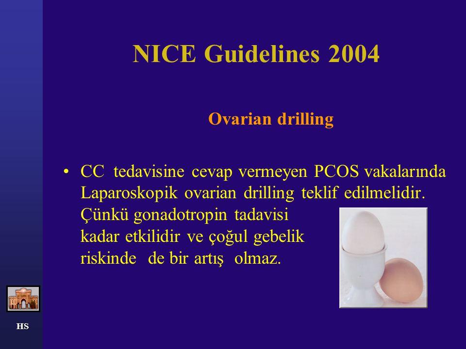 HS LAPAROSKOPİK OVARİAN DRİLLİNG Laparoskopik ovarian drilling(LOD) (Gjonnaes, 1984 ) *overlerde yüzey ve stromaya multipl ( ortalama 10) delikler açı