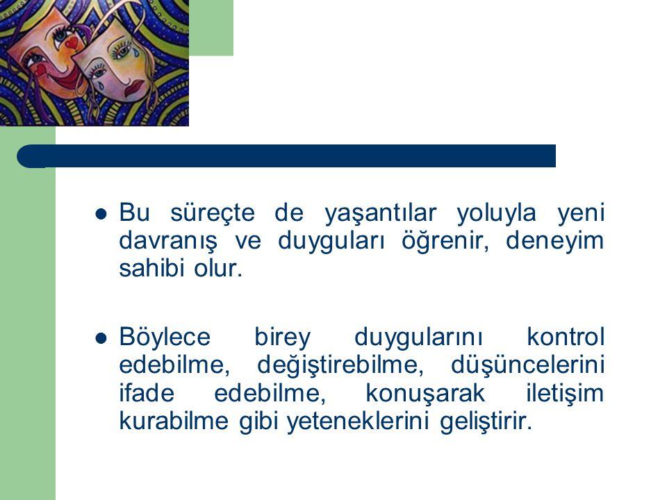 TÜRKİYE'DE DRAMA Buradan hareketle, eğitimde yaratıcı dramanın Türkiye'deki tarihsel sürecine bakacak olursak, Cumhuriyet'in ilk yıllarında İ.