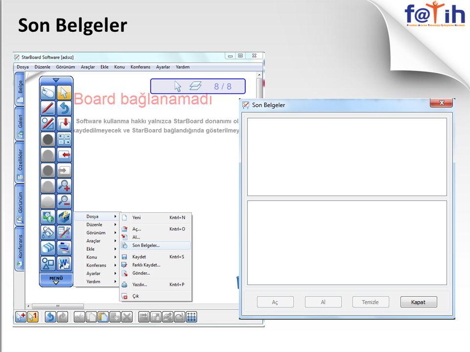 Son Belgeler