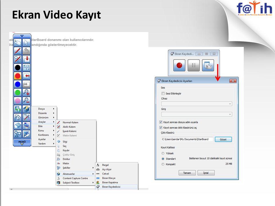 Ekran Video Kayıt