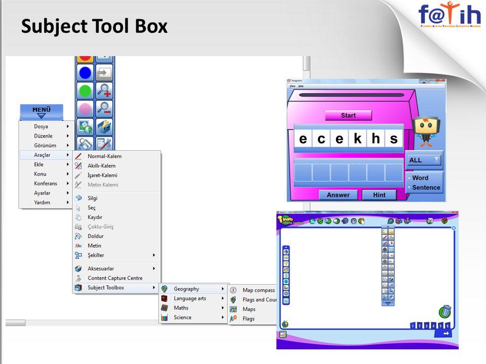 Subject Tool Box