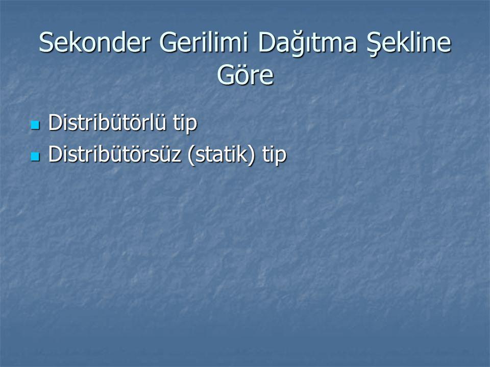 Sekonder Gerilimi Dağıtma Şekline Göre Distribütörlü tip Distribütörlü tip Distribütörsüz (statik) tip Distribütörsüz (statik) tip