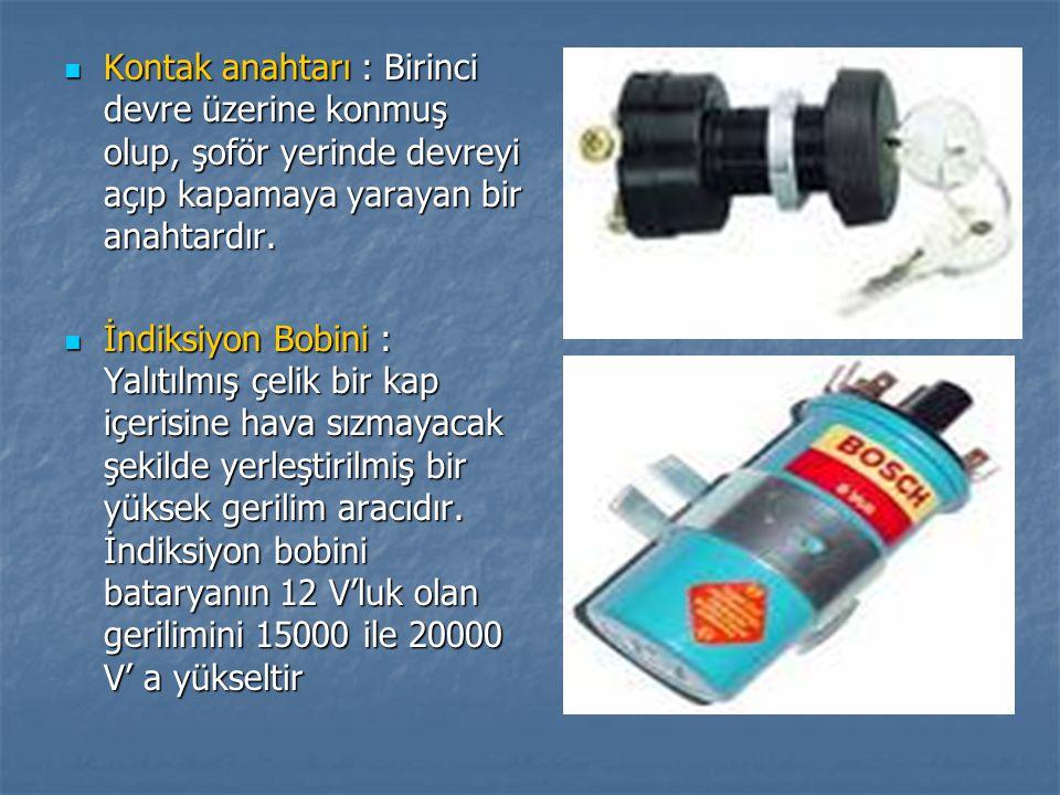 Kondansatör: Birinci devre akımının ani olarak kesilmesini sağlar.Bunun sonucu olarak ateşleme bobininin verimi yükseltir.
