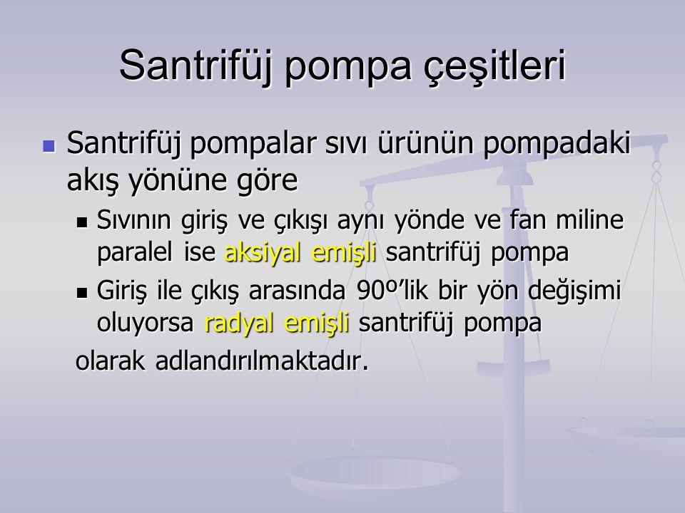 Santrifüj pompa çeşitleri Santrifüj pompalar sıvı ürünün pompadaki akış yönüne göre Santrifüj pompalar sıvı ürünün pompadaki akış yönüne göre Sıvının