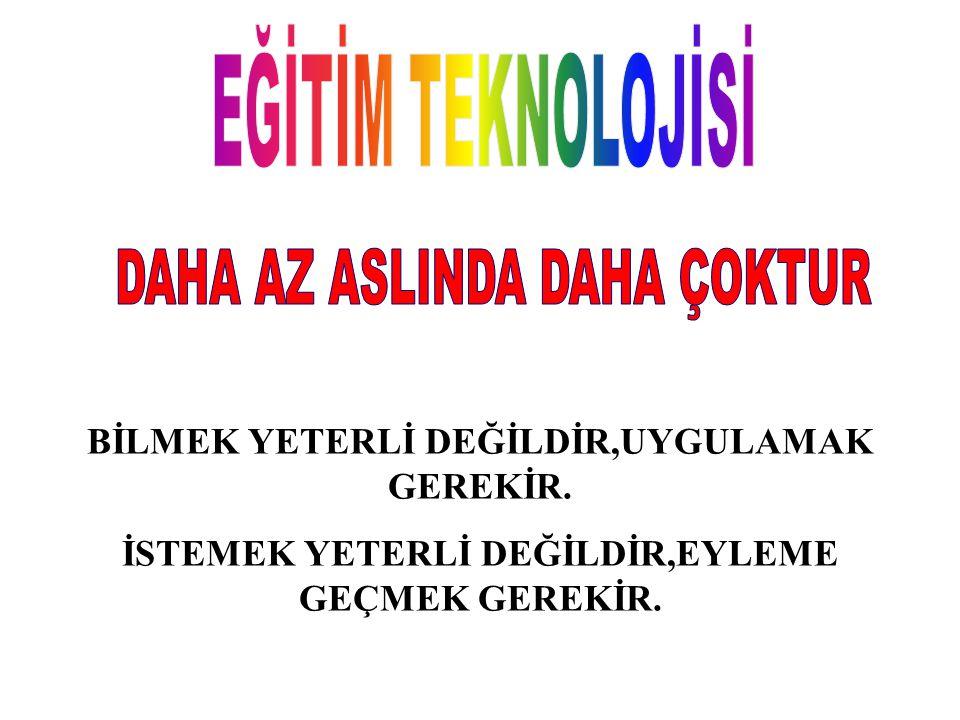 EĞİTİM TEKNOLOJİSİNİN EĞİTİME SAĞLADIĞI YARARLAR 1.