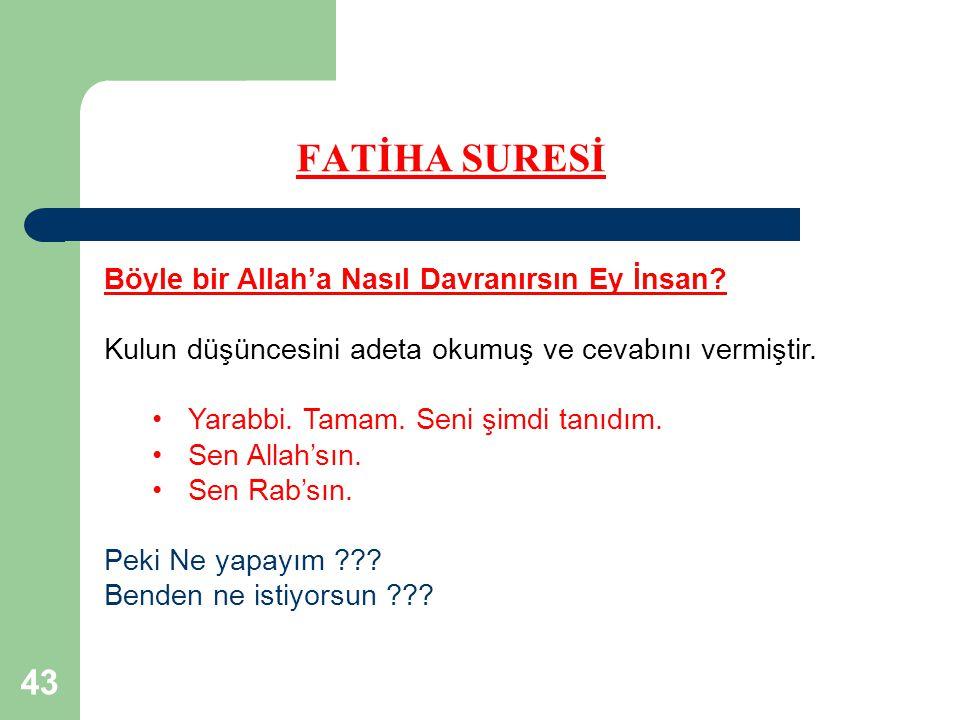 43 FATİHA SURESİ Böyle bir Allah'a Nasıl Davranırsın Ey İnsan.