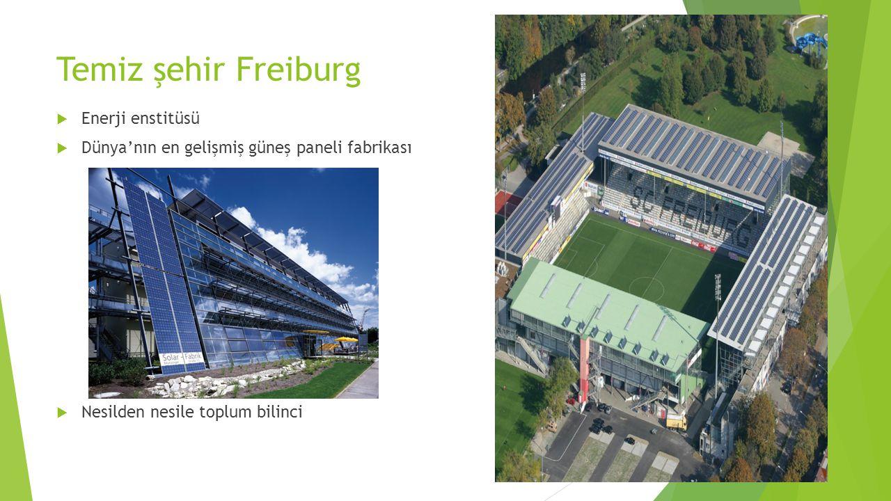 Temiz şehir Freiburg  Enerji enstitüsü  Dünya'nın en gelişmiş güneş paneli fabrikası  Nesilden nesile toplum bilinci