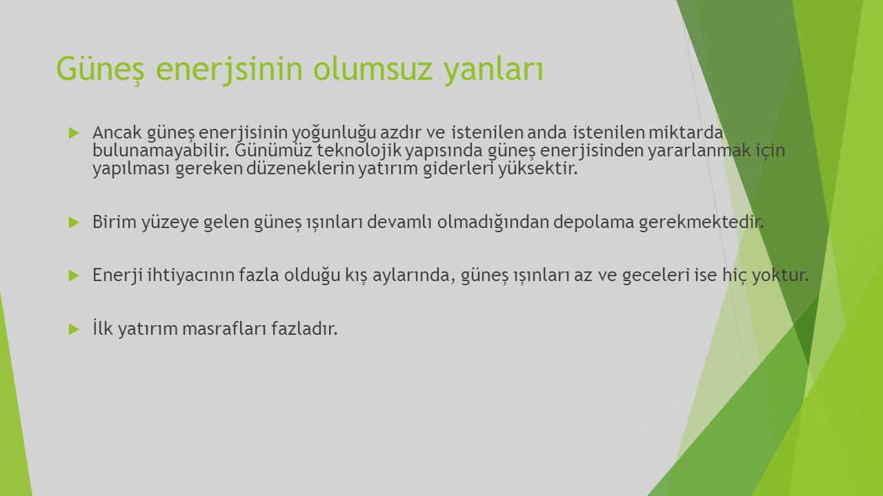 Güneş Enerjisi Ne Amaçla Kullanılmaktadır.
