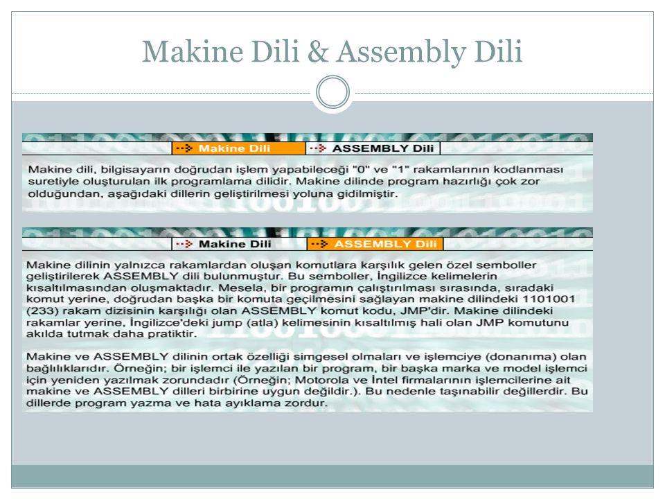 Makine Dili & Assembly Dili