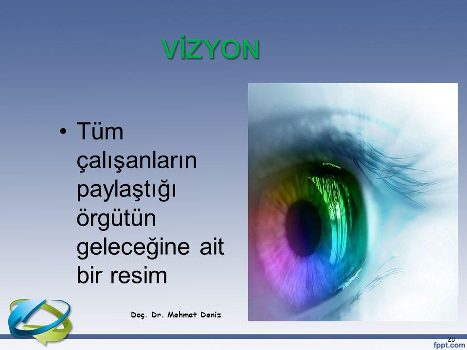 Tüm çalışanların paylaştığı örgütün geleceğine ait bir resim Doç. Dr. Mehmet Deniz 28