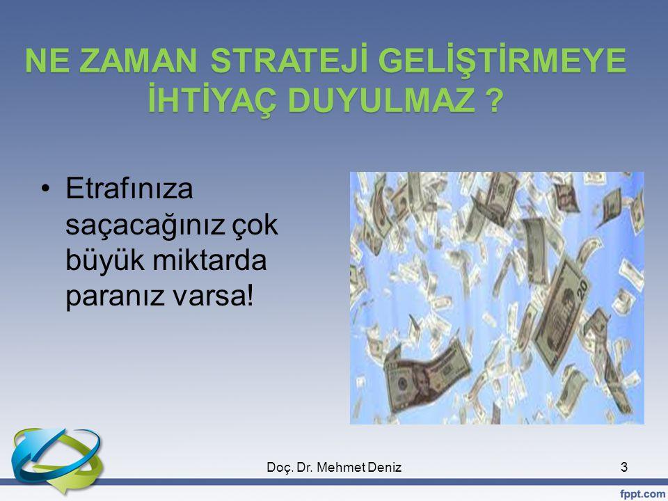  Rekabet Analizi (5 Güç Analizi)  SWOT/FÜTZ Analizi ve  Portföy Analizi. Doç. Dr. Mehmet Deniz24