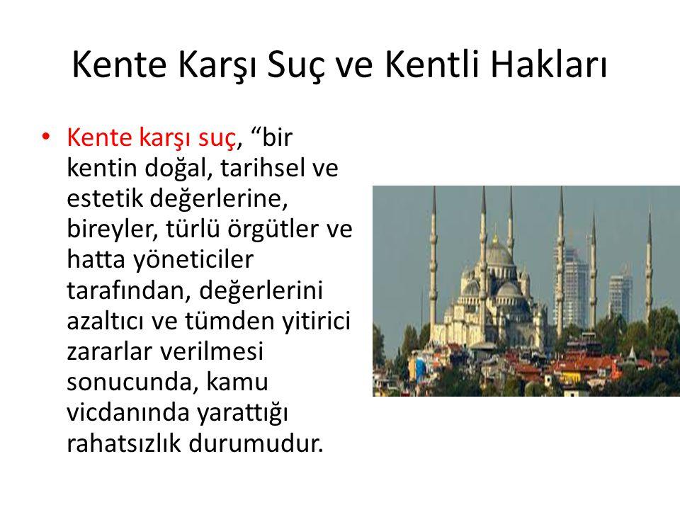 Kente Karşı Suç, Kentsel Rant ve Türkiye Özellikle büyük kentlerde sosyal devlet uygulamalarının daralması ve toplumsal adalet düşüncesinin zayıflaması, planlama çabalarının terk edilmesi, gelir dağılımının daha da bozulması, işsizlik ve yoksulluk oranının artması, mekânsal eşitsizliklerin ve kutuplaşmaların tırmanması ve zaman zaman çatışma boyutuna varması gibi sorunlar baş göstermiştir.