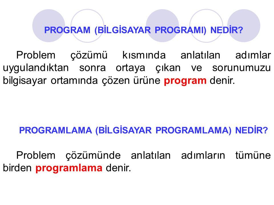 Örnek: Verilen iki sayının ortalamasını hesaplayan programın algoritmasını geliştiriniz ve akış diyagramını çiziniz.