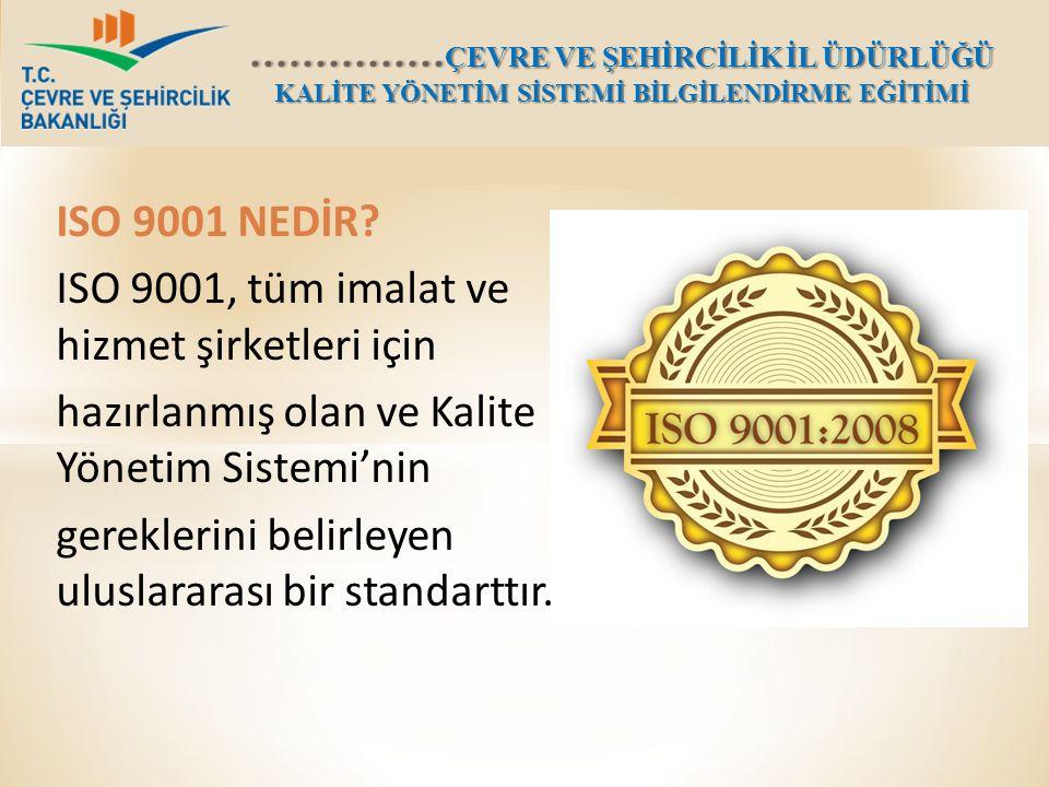 ISO 9001:2008 ; Kurumun mal veya hizmet üretimindeki tüm aşamaları belirleyerek, Kurumun kullanma kılavuzunu oluşturmak, Her defasında aynı kalitede sonucun alınacağı iş süreçleri yaratmayı amaçlamaktadır.