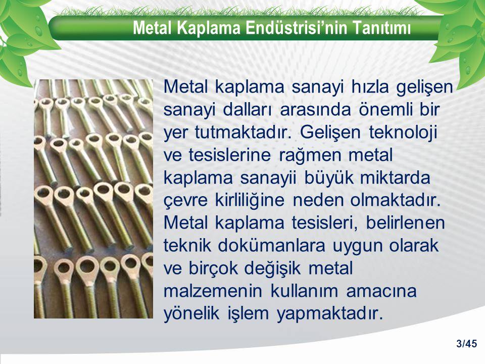 Metal Kaplama Endüstrisi'nin Tanıtımı Metal kaplama sanayi hızla gelişen sanayi dalları arasında önemli bir yer tutmaktadır. Gelişen teknoloji ve tesi