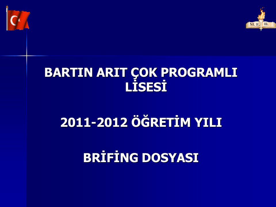 BARTIN ARIT ÇOK PROGRAMLI LİSESİ 2011-2012 ÖĞRETİM YILI BRİFİNG DOSYASI