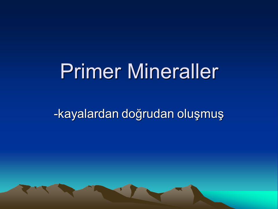 Primer Mineraller -kayalardan doğrudan oluşmuş