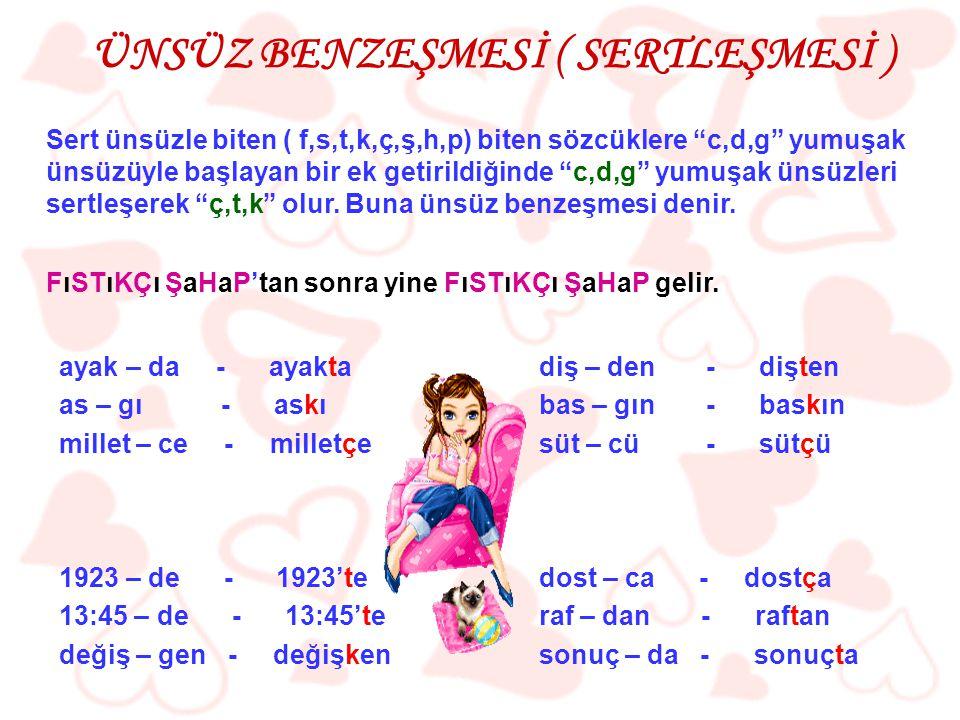 ( 2004 – DPY ) Aşağıdaki sözcüklerden hangisi ünlüyle başlayan bir ek alırsa, sözcüğün sonundaki ünsüz yumuşar? A) Sanat B) Sınıf C) Nefes D) Bardak
