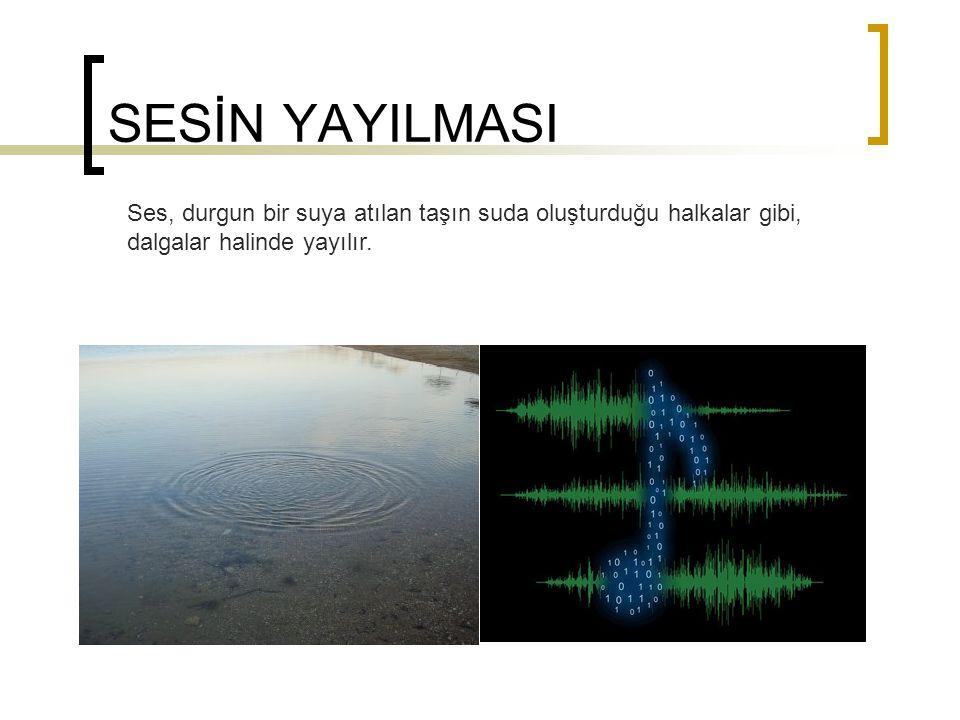SESİN YAYILMA HIZI Ses dalgaları havada 1 saniyede 340 metre yol alır.