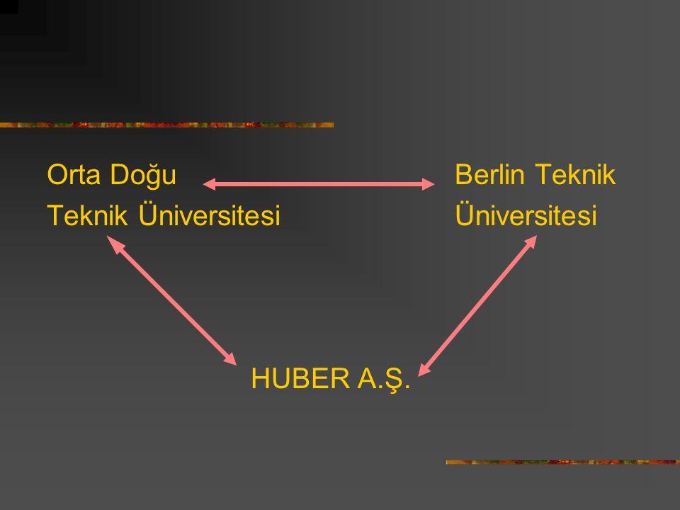 Orta Doğu Berlin Teknik Teknik ÜniversitesiÜniversitesi HUBER A.Ş.