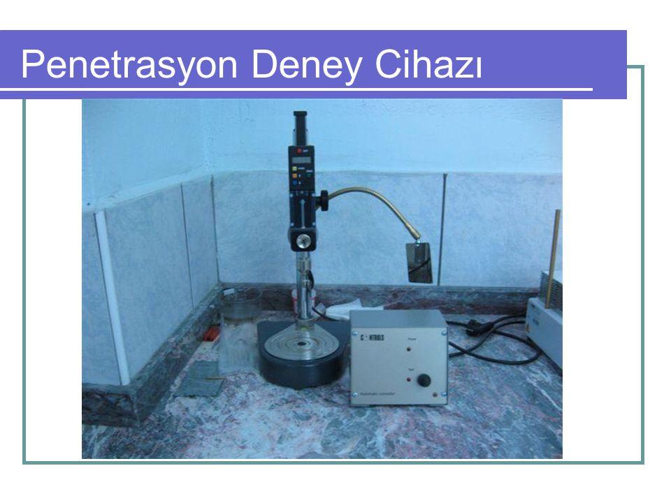 Diğer Deneyler Su yüzdesi: Sıvı asfalt içindeki su yüzdesinin tayin edilmesidir.