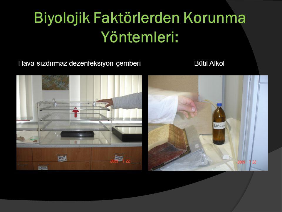 Biyolojik Faktörlerden Korunma Yöntemleri: Hava sızdırmaz dezenfeksiyon çemberi Bütil Alkol