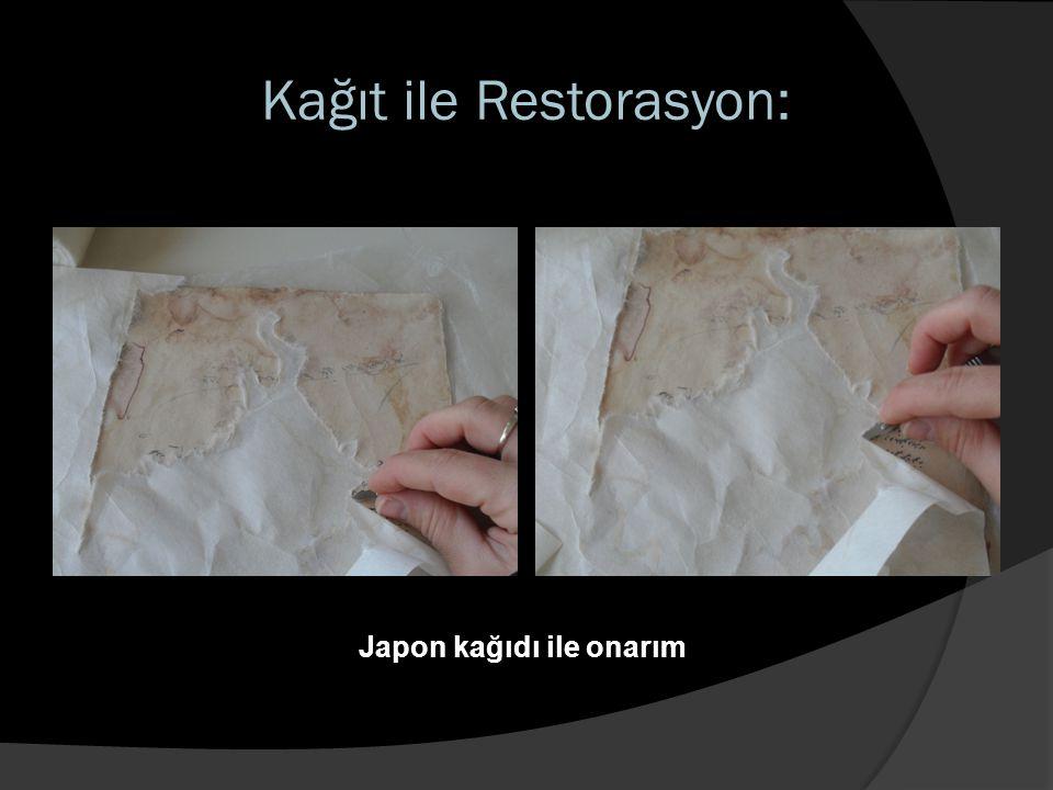 Kağıt ile Restorasyon: Japon kağıdı ile onarım