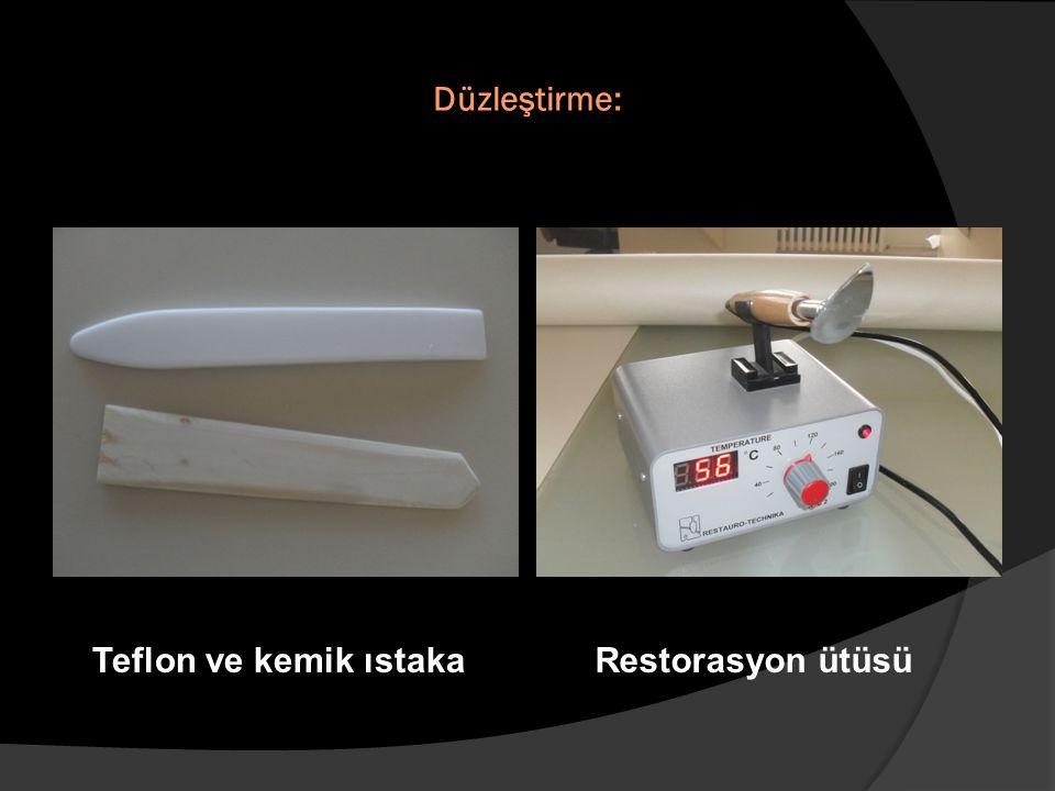 Düzleştirme: Teflon ve kemik ıstaka Restorasyon ütüsü