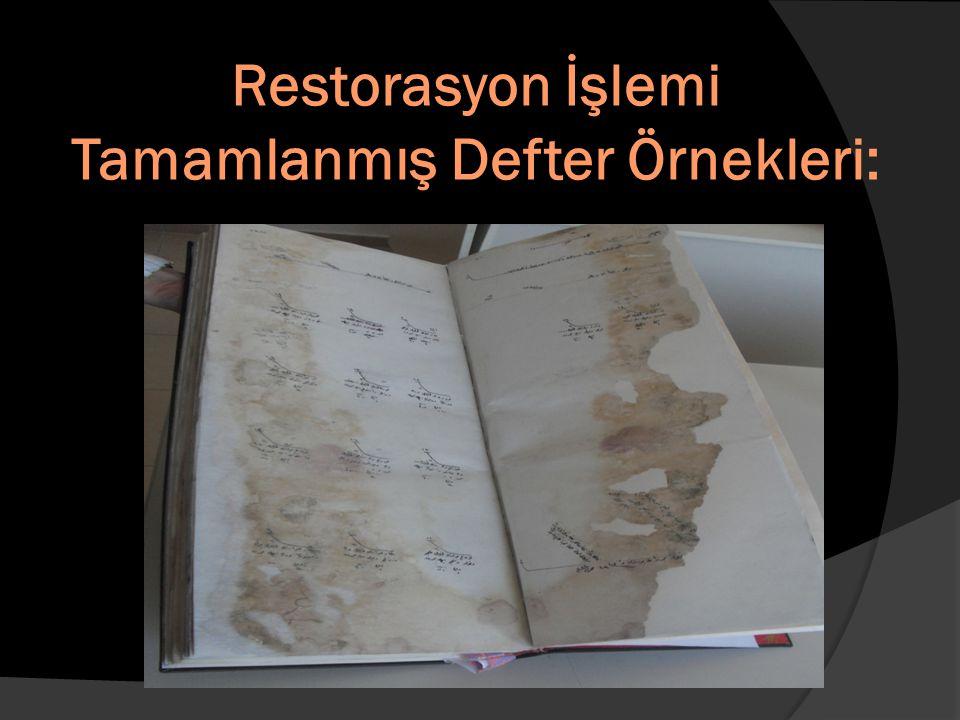 Restorasyon İşlemi Tamamlanmış Defter Örnekleri: