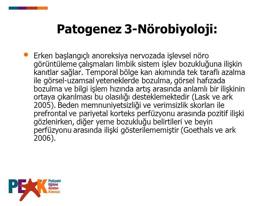 Patogenez 3-Nörobiyoloji: Erken başlangıçlı anoreksiya nervozada işlevsel nöro görüntüleme çalışmaları limbik sistem işlev bozukluğuna ilişkin kanıtla