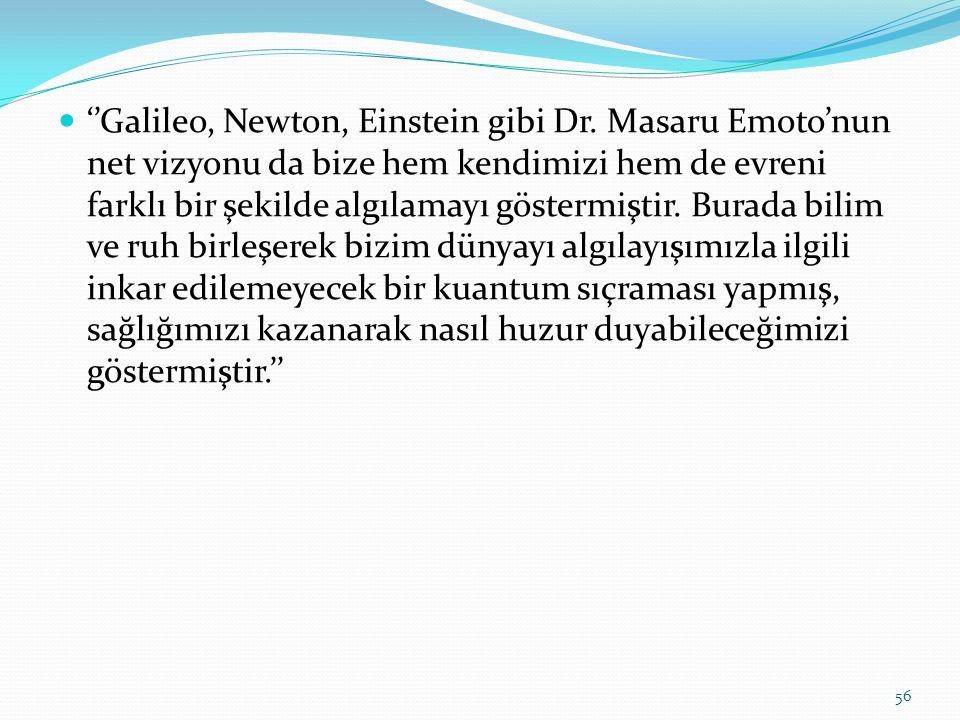 ''Galileo, Newton, Einstein gibi Dr.