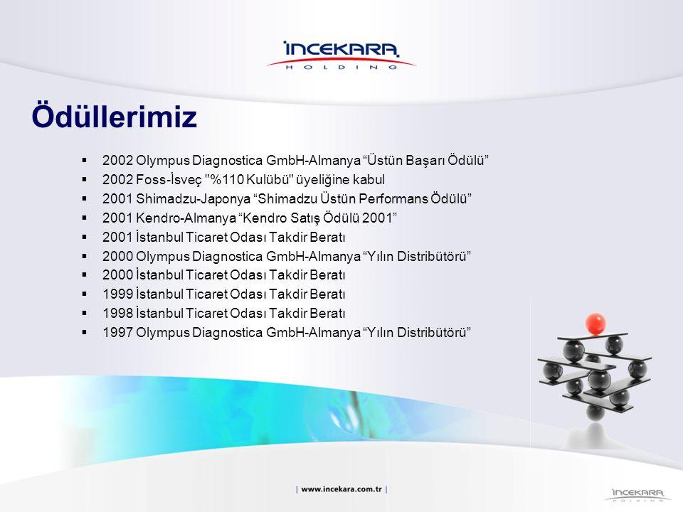 " 2002 Olympus Diagnostica GmbH-Almanya ""Üstün Başarı Ödülü""  2002 Foss-İsveç"